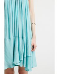Forever 21 | Blue Contemporary Chiffon Trapeze Dress | Lyst