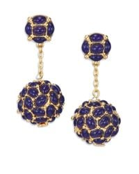 Kenneth Jay Lane - Metallic Cabochon Cluster Drop Earrings - Lyst