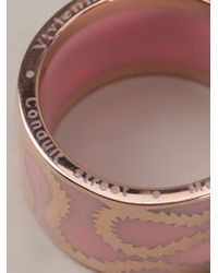 Vivienne Westwood - Pink Squiggle Band Ring - Lyst