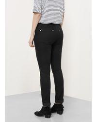 Violeta by Mango - Black Slim-fit Julie Jeans - Lyst