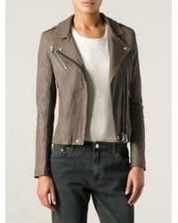 IRO - Brown 'Vika' Biker Jacket - Lyst