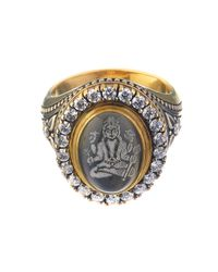 Queensbee - Metallic Vishnu Ring - Lyst