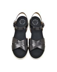Marc By Marc Jacobs - Teck Vacchetta Black Leather Sandal Flat - Lyst