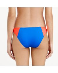 J.Crew - Blue Colorblock Ring Hipster Bottom - Lyst
