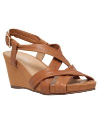 Carvela Kurt Geiger - Gray Sasha Cross Strap Wedge Heels - Lyst
