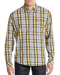 James Campbell | Gray Regular-fit Peoria Plaid Cotton Sportshirt for Men | Lyst