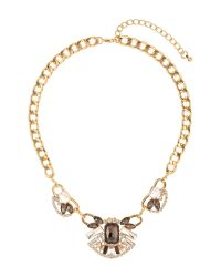 Mikey | White Inca Crystal Pendant Necklace | Lyst