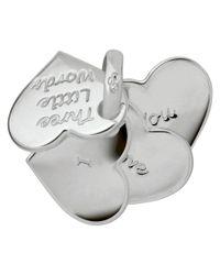 Links of London - Metallic Sterling Silver Three Little Words Heart Fan Charm - Lyst