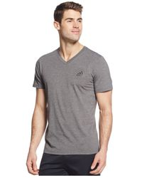 Adidas | Gray Men's Go-to Performance V-neck T-shirt for Men | Lyst