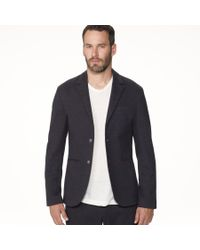 James Perse | Blue Knit Tailored Italian Suit Jacket for Men | Lyst