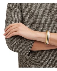 Tory Burch - Pink Sculpted Metal Cuff - Lyst
