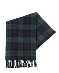 Polo Ralph Lauren | Green Plaid Cashmere Scarf With Fringe | Lyst