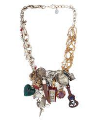 Maria Zureta | Metallic Multi Pendant & Chain Necklace | Lyst