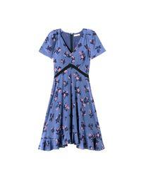 Rebecca Taylor | Blue Alyssum Print Dress | Lyst