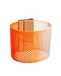 Ashiana - Neon Orange and Gold Cuff Bracelet - Lyst
