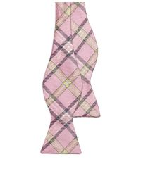 Brooks Brothers - Pink Tartan Bow Tie for Men - Lyst
