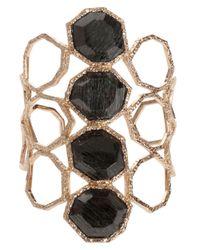 Isharya - Black Goddess Honeycomb Cuff - Lyst