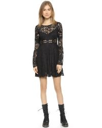 Free People | Black Psychomagic Dress | Lyst