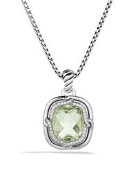 David Yurman - Metallic Labyrinth Small Pendant With Prasiolite - Lyst