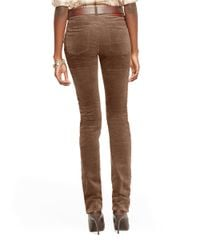 Lauren by Ralph Lauren | Brown Heritage Straight Stretch-corduroy Pant | Lyst