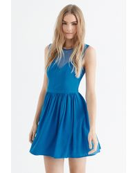 Oasis - Blue Lace Trim Soft Skater - Lyst