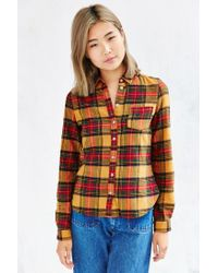 BDG | Yellow Katie Flannel Button-down Shirt | Lyst