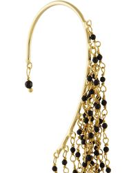 Rosantica - Black Rosarietto Gold-Dipped Onyx Ear Cuff - Lyst