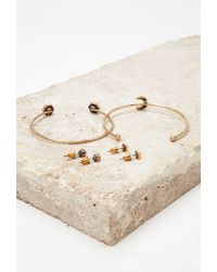 Forever 21 | Metallic Stud And Cuff Set | Lyst