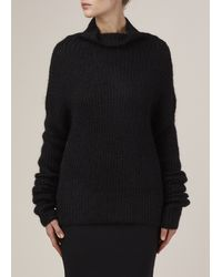 Haider Ackermann - Black Oversized Turtleneck Sweater - Lyst