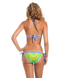 Trina Turk - Green Seychelles Triangle Bikini Top - Lyst