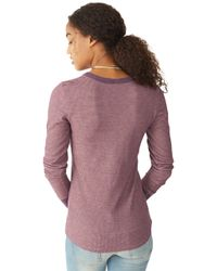 Alternative Apparel | Purple Cozy Thermal Top | Lyst