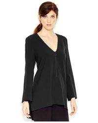 RACHEL Rachel Roy | Black High-low Zip-front Tunic | Lyst