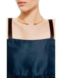 Genevieve Jones - Metallic Sahar Cosmic Serpent Choker With Pave Stones - Lyst