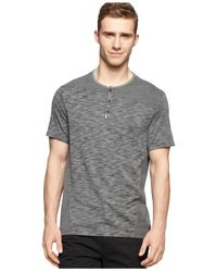 Calvin Klein Jeans | Black Reverse-seam Henley for Men | Lyst