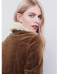 Free People | Brown Womens Sherpa Lined Uncut Cord Jacket | Lyst