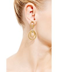 House of Lavande - Metallic Christian Dior Gold Rope Clip On Earrings - Lyst
