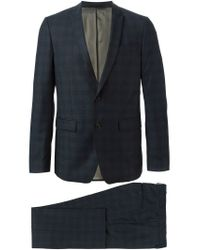 Mauro Grifoni - Blue Checked Two Piece Suit for Men - Lyst