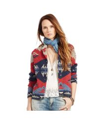 Denim & Supply Ralph Lauren - Blue Shawl Cardigan Sweater - Lyst