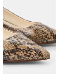 Violeta by Mango | Natural Leather Pumps | Lyst