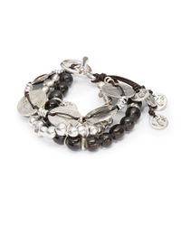 Uno De 50 | Gray Bead Charm Bracelet | Lyst