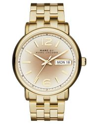 Marc By Marc Jacobs | Metallic 'fergus' Bracelet Watch | Lyst