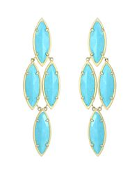 Kendra Scott - Blue Arminta Turquoise Marquise Earrings - Lyst