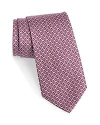 Ferragamo - Purple Elephant Print Silk Tie for Men - Lyst