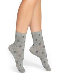 Kate Spade | Gray 'fluffy Spots' Anklet Socks | Lyst