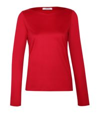 Dorothee Schumacher - Red Multiple Visions Shirt V-neck 1/1 - Lyst