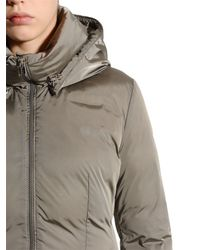 Add - Gray Hooded Nylon Down Parka - Lyst