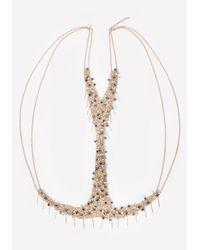 Bebe - Metallic Bead & Fringe Body Chain - Lyst