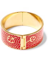 Liberty | Red Hera Enamel Solid Cuff | Lyst