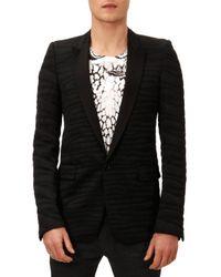 Balmain - Black Zebra Jacquard Evening Jacket for Men - Lyst