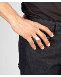 Bottega Veneta - Metallic Intrecciato Oxydized Svanito Silver Ring for Men - Lyst